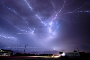 This lightning crawler occurred on a fantastic night of storms July 24, 2009, in east-central Florida. Photo by Chris Kridler, chriskridler.com