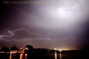 Lightning crawler over Indian River Lagoon