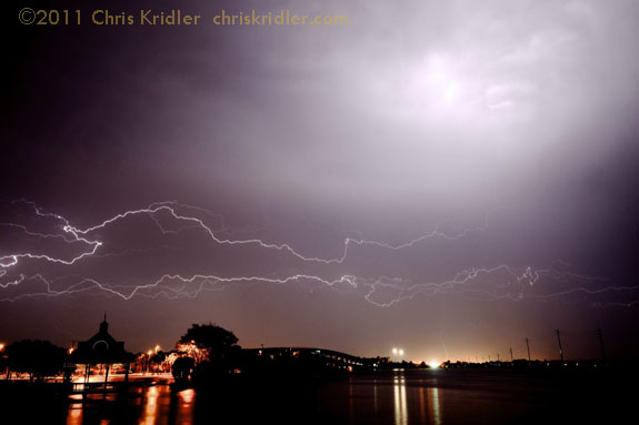 Lightning crawler over Indian River Lagoon