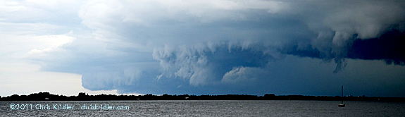 A toothy shelf cloud moves over the beaches of the Space Coast. Photo by Chris Kridler, chriskridler.com