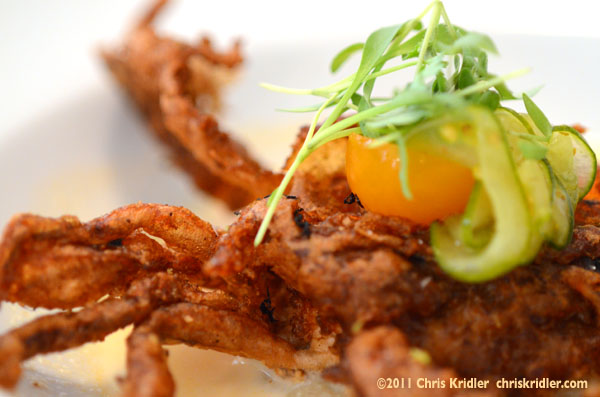 Softshell crab tempura at August