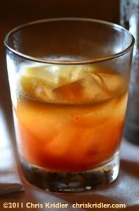 Savory gin cocktail