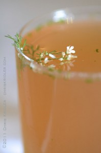 Coriander champagne cocktail