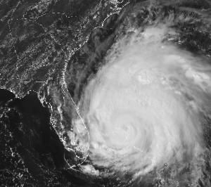 Satellite photo of Hurricane Irene