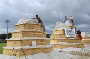 Carving sand pyramids