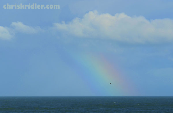Atlantic Ocean rainbow