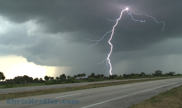 Hot lightning in Florida