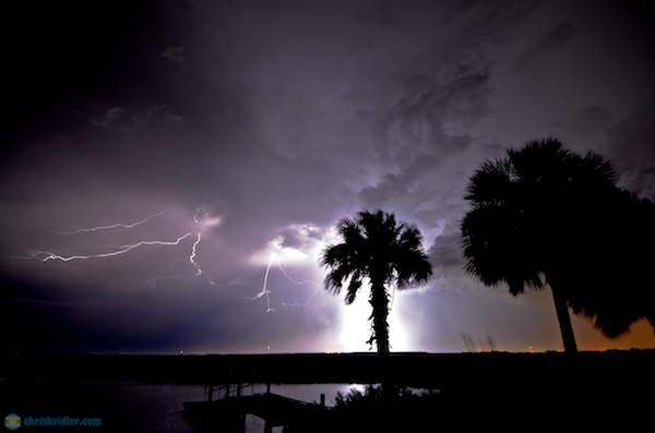 Florida lightning 15 August 2012