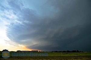 The El Reno supercell, early in its life. Photo by Chris Kridler, ChrisKridler.com, SkyDiary.com