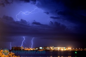 Lightning strikes near Port Canaveral, Florida, on June 18, 2013. Photo by Chris Kridler, ChrisKridler.com, SkyDiary.com