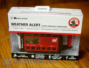 Midland's ER300 weather radio in the box. Photo by Chris Kridler, ChrisKridler.com