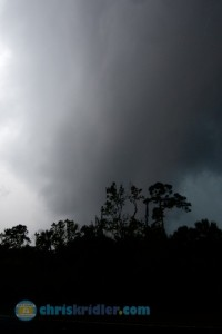 A tornado-warned storm's bowing line had a deceptive appearance in east-central Florida March 29, 2014. Photo by Chris Kridler, ChrisKridler.com