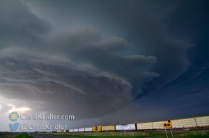 This Nebraska supercell had a mothership appearance and big hail on May 19, 2014. Photo by Chris Kridler, SkyDiary.com, ChrisKridler.com