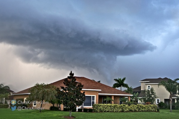 This funnel cloud formed in Viera on July 26. Photo by Chris Kridler, ChrisKridler.com, SkyDiary.com