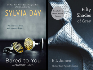 "The legacy of ""Fifty Shades of Grey"": the abstract billionaire book cover, as seen on Sylvia Day's Crossfire novels."