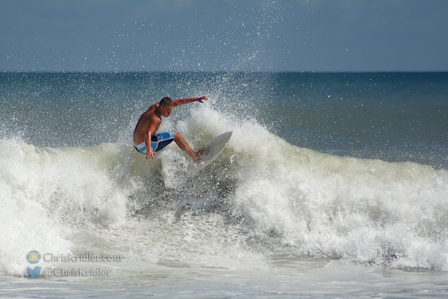 Serious surfers dotted the waves Sept. 30 on Florida's Space Coast.