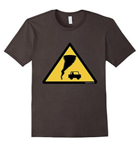 Caution Tornado Storm Chasers T-shirt