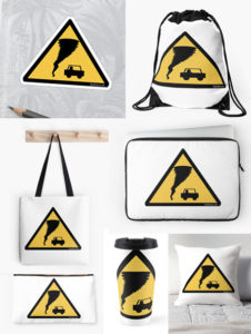 Caution Tornado Storm Chasers gifts