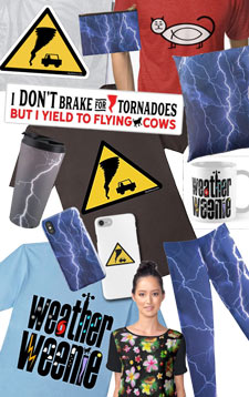 Shop for weather and storm chaser gifts and T-shirts