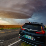 17 May 2021: Dusty, tornadic UFO supercell near Brownfield, Texas