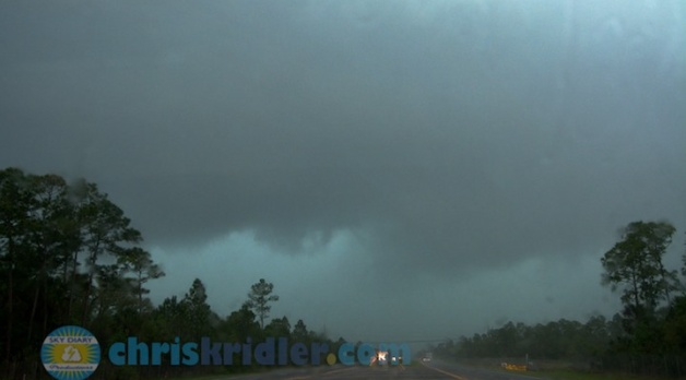 29 March 2014: Tornado-warned storms whip through central Florida