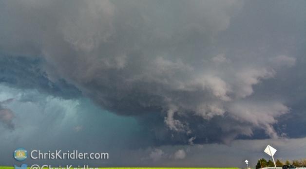 21 May 2014: Tornado-warned storm in central Colorado