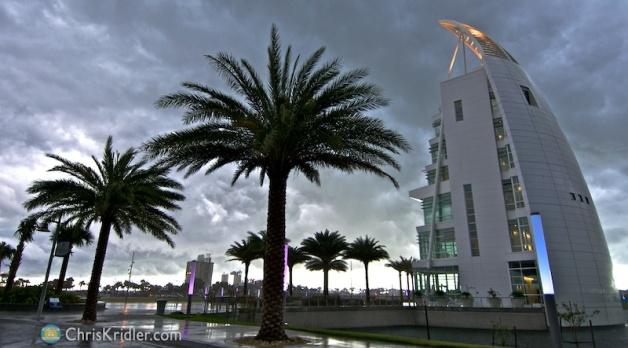 I got a few final shots of the rain hitting Port Canaveral.