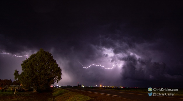 23 May 2021: Colorado storms, funnel and lightning